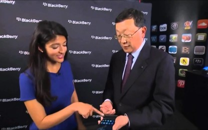 VIDEO: BlackBerry muestra su primer smartphone con Android
