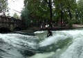 River Surfing in Munich Germany (Video)