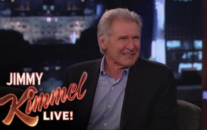 El Famoso Actor Harrison Ford se molesta por preguntas sobre Star Wars The Force Awakens (Video)