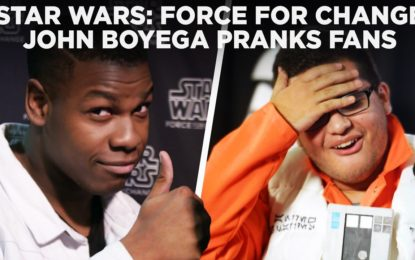 John Boyega de Star Wars The Force Awakens Sorprende a Fanaticos en el Star Wars Celebration 2017