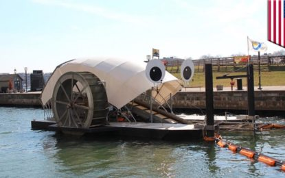 """Mr. Trash Wheel"", el monstruo come basura"